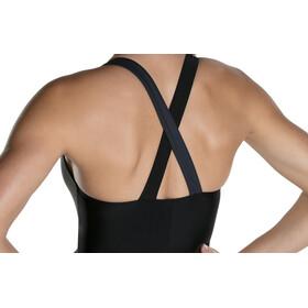 speedo HydrActive Swimsuit Damen black/oxid grey/fake green